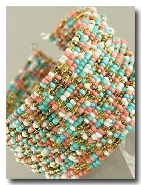 Multi Strand Multi Colored Seed Bead #Bracelet www.secretgardengems.net