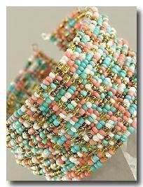 Bohemian Multi Colored Beaded Bracelet Cornbread And Coffee
