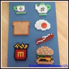 Hama bead food items by hamabeadpatterns123