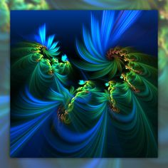 For You by ~manapi on deviantART... green blue fractals... *~<3*Jo*<3~*