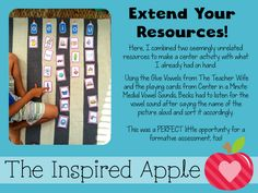 Random Teacher Tips: Use what you have to extend your resources beyond their intended use!