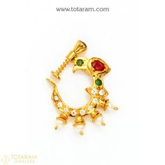 Nose Jewelry, Diamond Jewelry, Jewelry Gifts, Nose Ring Designs, Nath Nose Ring, Gold Bangles, Indian Jewelry, Jewelry Stores, Jewelry Design