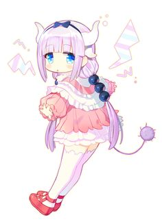 Anime Art | Kobayashi's Dragon Maid | Kanna