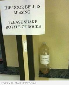 Can you imagine driving by and seeing someone standing outside a front door shaking a bottle of rocks?! HA!!!!