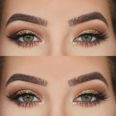 Beautiful green eyes makeup with Firma Allure Lashes ❤️ Firma Brushes