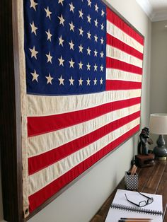 Hang Flag On Wall perfect way to continue the respect and appreciation of a tattered