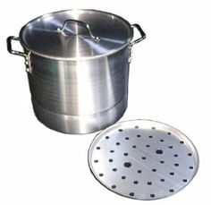 32 Qaurt Aluminum Stockpot with Steamer by CITYCOOK. $50.00