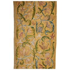 embroidered in polychrome silk floss, on a silk background, Brazilian Embroidery Stitches, Silk Ribbon Embroidery, Hand Embroidery, Embroidery Supplies, Embroidery Patterns, Embroidery Needles, Art Nouveau Interior, Modern Tapestries, 17th Century Art