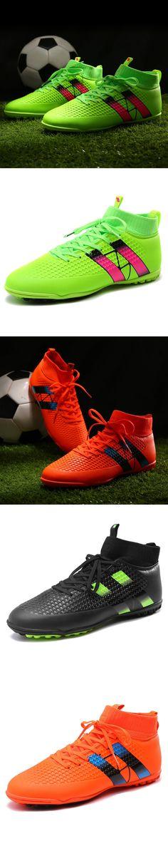 Men Football Shoes 2017 Professional Protection Of High-Ankle Kids Soccer Socks Futsal Turf Non-Slip Football Training Shoes