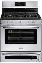 """$1369 Frigidaire FGGF305MKF 30"""" Freestanding Gas Range with 5 Sealed Burners, Quick Boil Burner, Center Oval Burner, 5.0 cu. ft. Main Oven Capacity, Quick Bake Convection, Express-Select Controls and 0.5 cu. ft. Lower Oven"""
