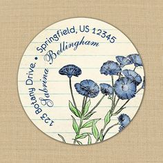 Blue Cornflowers - Address Labels or Stickers by PoshGirlBoutique