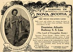 1910 Ad Nova Scotia Fishing Dominion Atlantic Cruise - ORIGINAL ADVERTISING TIN4 Annapolis Royal, All About Canada, Marriage Announcement, Prince Arthur, Cape Breton, Beautiful Sites, Nova Scotia, A 17, Print Ads