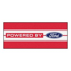Ford Oval with Stripes Runner 30x72 - Red