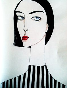 Black and White (w/ a few exceptions) by Kelly Beeman, via Behance