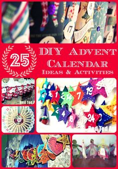 Love love love Advent and love making our Advent calendars. Great ideas to bring out year on year!