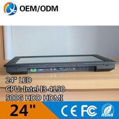 24 pouce tablet pc panel pc industriel avec intel i3 4150 et IR tactile Résolution 1920x1080 2 GB RAM 500G HDD