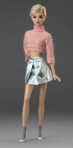 "Barbie Nineties New Era Collection by Carlyle Nuera ""Coral Fluffy Sweater"" OOAK"