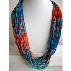 Blue Necklace/Statement Necklace/Chunky Necklace/Bib Necklace/Beaded Necklace/Beaded Jewelry