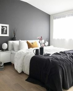 Graue Schlafzimmer Wandfarbe Ideen