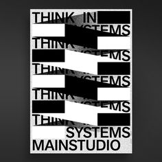 THINK IN SYSTEMS Posterslam #3 on Behance