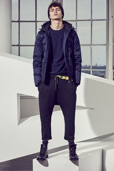 Beat the cold in this hooded puffer jacket. #axfw16 #axchange - Men's Fashion  #MichaelLouis