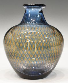 Orrefors art glass vase, 'Kraka', by Sven Palmquist (Scandinavian, c. clear and colored glass with . on Jul 2013 Call Art, Scandinavian Art, Glass Ceramic, Modern Glass, Ceramic Artists, Types Of Art, Colored Glass, Art Decor, Home Decor