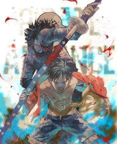 One Piece, Luffy, Law