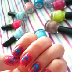 Cotton Candy Warp [my debut at nail art] (by Trina Martirez)