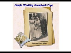 simple wedding scrapbook or photobook page, using gimp - YouTube