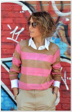 maglione a righe
