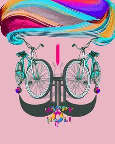 cycle boli happy holi....