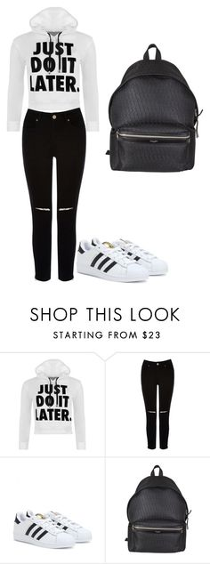 """Back to school -- Autumn outfits"" by beautynezz-dlxix ❤ liked on Polyvore featuring moda, WearAll, Oasis, adidas ve Yves Saint Laurent"