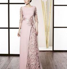 Super Ideas for dress winter bridesmaid haute couture Dress Brokat, Kebaya Dress, Godmother Dress, Hijab Dress Party, Bridesmaid Dresses, Prom Dresses, Dress Prom, Muslim Dress, Mode Style