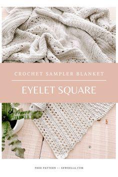 Crochet Sampler Afghan Pattern, Crochet Square Patterns, Crochet Blocks, Crochet Squares, Crochet Blanket Patterns, Crochet Designs, Crochet Afghans, Moogly Crochet, Bead Crochet