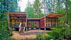 I love Method Homes.here's a Prefab Modern House: The by Method Homes Published on JANUARY 2015 This prefab modern house called the It has two bedrooms and one and a half bathrooms within 1240 sq. of interior space Best Modular Homes, Modular Home Builders, Prefab Modular Homes, Prefab Houses, Tiny Houses, Prefab Buildings, Wood Houses, Tiny House Design, Modern House Design