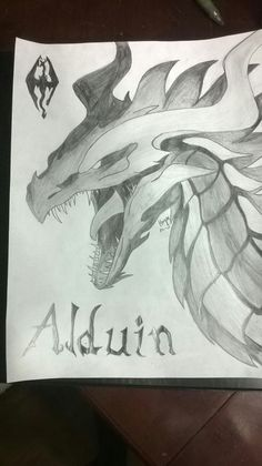 Alduin, the dragon from Skyrim. This took maybe three hours to complete. Worth it Healthy Living Quotes, Game Background, Hand Molding, Motivational Messages, Party Centerpieces, Elder Scrolls, Slot Machine, Skyrim, Game Design