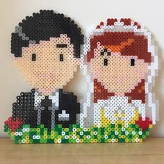 Wedding perler beads by mushroomwashere
