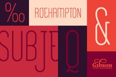 Roehampton by Gibson Type Foundry on Creative Market