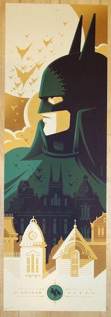 """2014 """"Batman"""" - Gotham by Gaslight Silkscreen Movie Poster by Tom Whalen"""
