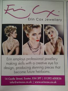Work for Erin Cox Jewelry  Maria Dragan Photography