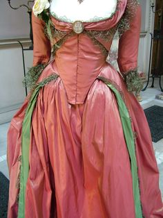 Keira Knightley Drunken Dress costume in 'The Duchess', 2008. Late 18th Century Georgian costumes by Michael O'Connor.