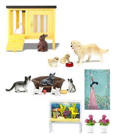 Four-Piece Pets Play Set by Lundby #zulily #zulilyfinds
