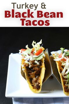 Taco Night is the highlight of the week. Make this week's taco feast good and cheap with these spicy turkey and black bean tacos you can bake in the oven. Carnitas, Barbacoa, Mexican Food Restaurants, Mexican Food Recipes, Healthy Recipes, Carne Asada, Tamales, Brisket, Churros