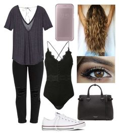 """""""#20"""" by mariangela06 ❤ liked on Polyvore featuring Victoria's Secret, Converse, Jonathan Simkhai, Burberry and Samsung"""