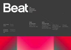 Beat electronic festival ID —marindsgn by MARIN DSGN, via Flickr