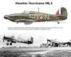 Hawker Hurricane Mk.I Aircraft Photos, Ww2 Aircraft, Fighter Aircraft, Military Aircraft, Fighter Jets, Hawker Hurricane, Ww2 Planes, Battle Of Britain, Royal Air Force