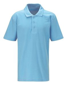Polo Shirt - Sky Blue  Hard-wearing polo that lasts