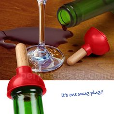 Perfect way to plug a bottle. Then again how often don't you finish a bottle.