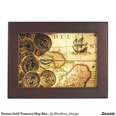 Choose from a variety of Gold gift boxes on Zazzle. Our keepsake boxes are great places to hold valuables like jewelry. Wooden Keepsake Box, Keepsake Boxes, Best Gifts For Men, Cool Gifts, Pirates Gold, Treasure Maps, Wood Interiors, Black Velvet, Cyber