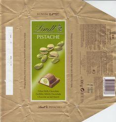 Pistache  Milchschokolade mit ganzen Pistazien in Mandelfüllung 1998 Pistachio, Almond, Milk, Milky Bar Chocolate, Pistachios, Almond Joy, Almonds